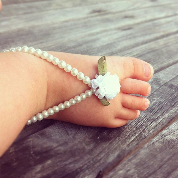 Baby barefoot sandals, baby foot jewelry, baby shoes ...