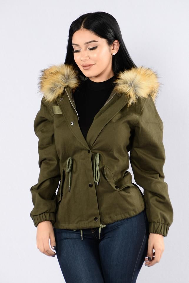 Explore The World Jacket - Olive/Brown. Large.