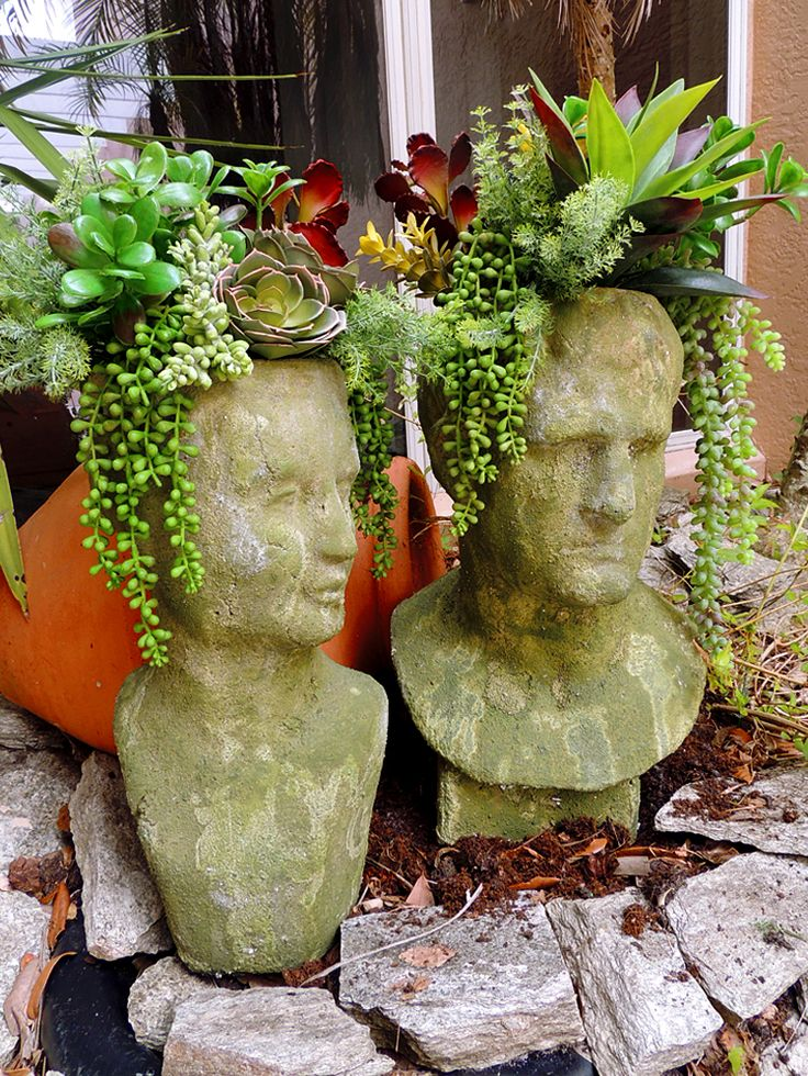 Head Planters And Beautiful Garden Accessories