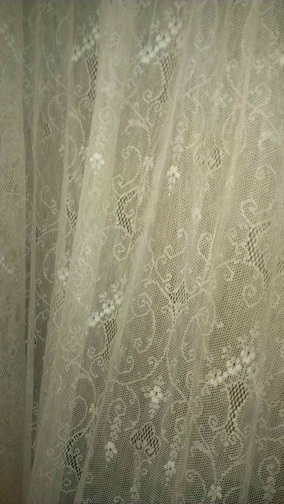 antique net lace curtain panel curtains curtain panels