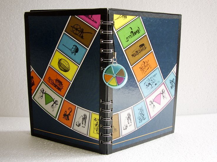 Game board calendars and notebooks From Garbage to Masterpiece!