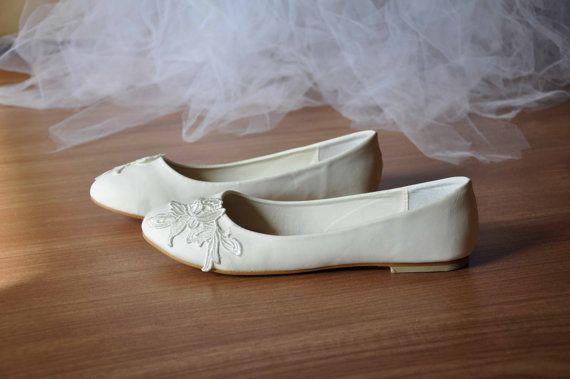 Bruiloft flats lace flats venise lace schoenen lace bruids