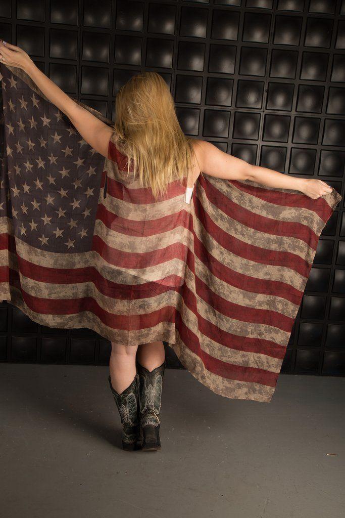 Vintage American Flag Duster