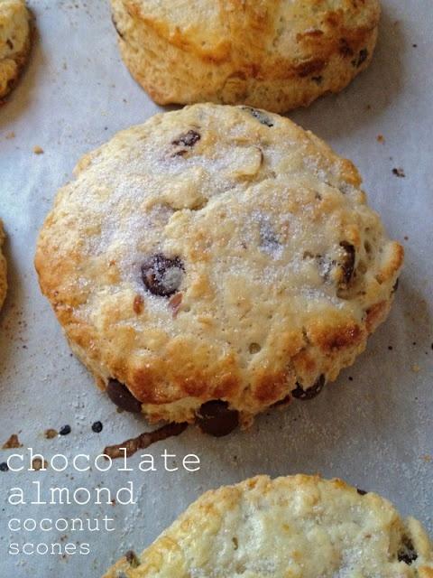 Chocolate Almond Coconut Scones | Baking | Pinterest