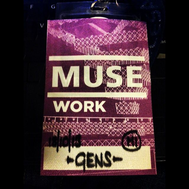 Muse working backstage pass