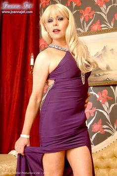 The Official Website Of Shemale Pornstar Joanna Jet | Preview Gallery - Purple Gown | www.joannajet.com
