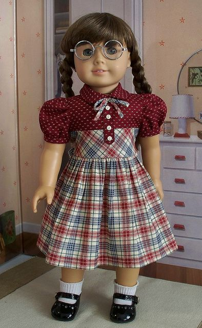 1940's burgundy plaid frock by Keepersdollyduds, via Flickr