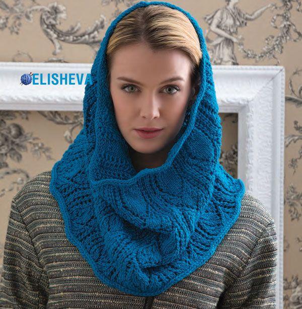 Ажурный женский снуд вязаный спицами | Блог elisheva.ru