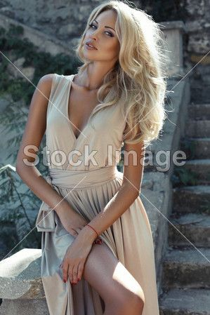 Beautiful girl with blond hair