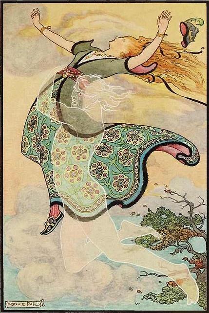 frank cheyne papé, illustration for a book of russian folk tales, 1916