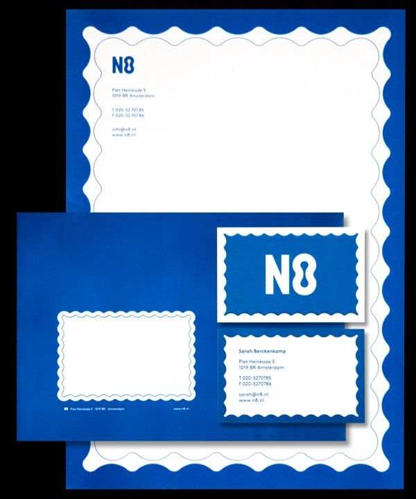 N8 stationery, part of the N8 brand identity. Created by Festina Lente Collective - branding and digital services - in Amsterdam, the Netherlands. www.festinalentecollective.com