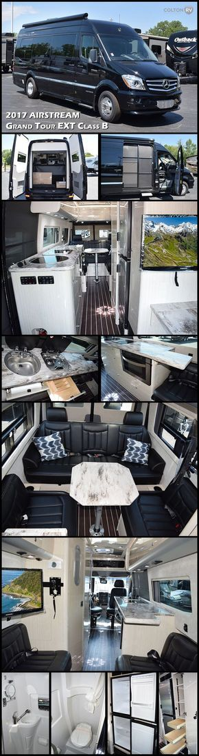 This 2017 INTERSTATE GRAND TOUR EXT by AIRSTREAM offers all the amenities and comforts of a home away from home with the quality, easy maneuverability and convenience of Airstream and Mercedes-Benz. Find tremendous functionality and plenty of room to socialize. With a focus on longer-term adventures, the Grand Tour is built on the EXT platform and includes a larger galley with additional counter and multi-functional storage space, an over-sized fridge, freezer and dual screen doors.