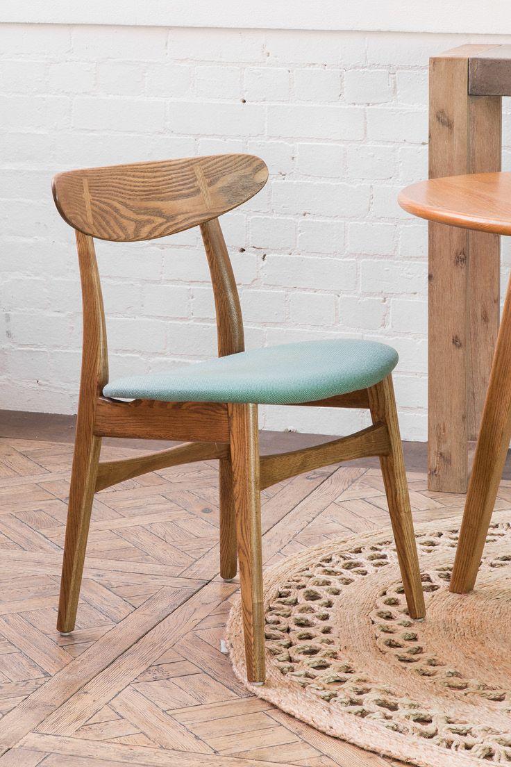 Gabi Dining Chair in Ash Walnut Timber // Versailles Parquet // Latur 1.5m Round Jute Rug // Buy at Schots in Melbourne, Australia