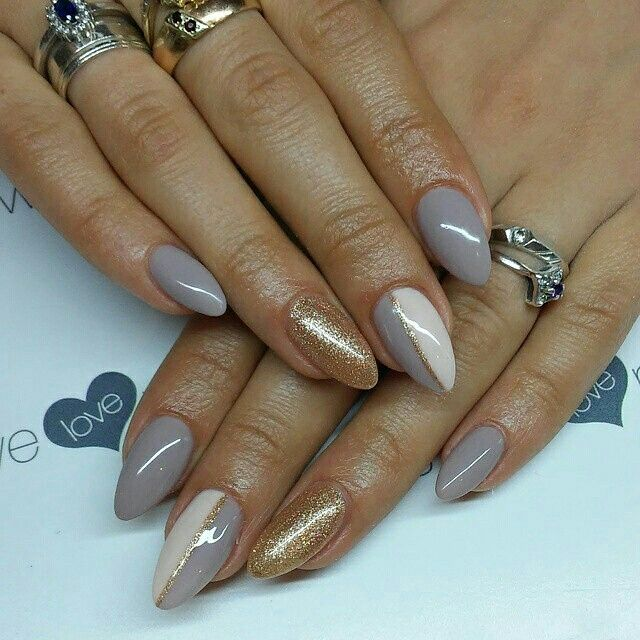SPN UV LaQ 511 Nude, 578 Creame Puff! 649 Shining like a star. Nails by Alicja Koziołek #spnnails #uvlaq #inspiracje #paznokcie #manicure #naildesign #nailure #nails