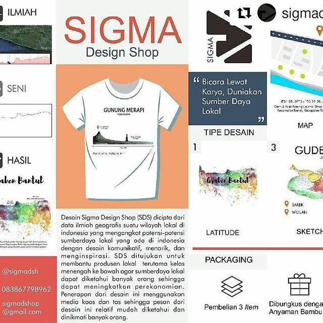 #Repost @sigmadsh (@get_repost) ・・・ Hai SIGMA hadir lagi !  Penasaran dengan konsep Sigma design shop? Yuk kita simak bareng-bareng 😄 . . Desain Sigma Design Shop (SDS) dicipta dari data ilmiah geografis suatu wilayah lokal di indonesia yang mengangkat potensi-potensi sumberdaya lokal yang ada di indonesia dengan desain komunikatif, menarik, dan menginspirasi. SDS ditujukan untuk membantu produsen lokal  terutama kelas menengah ke bawah agar sumberdaya lokal  dapat diketahui banyak orang…
