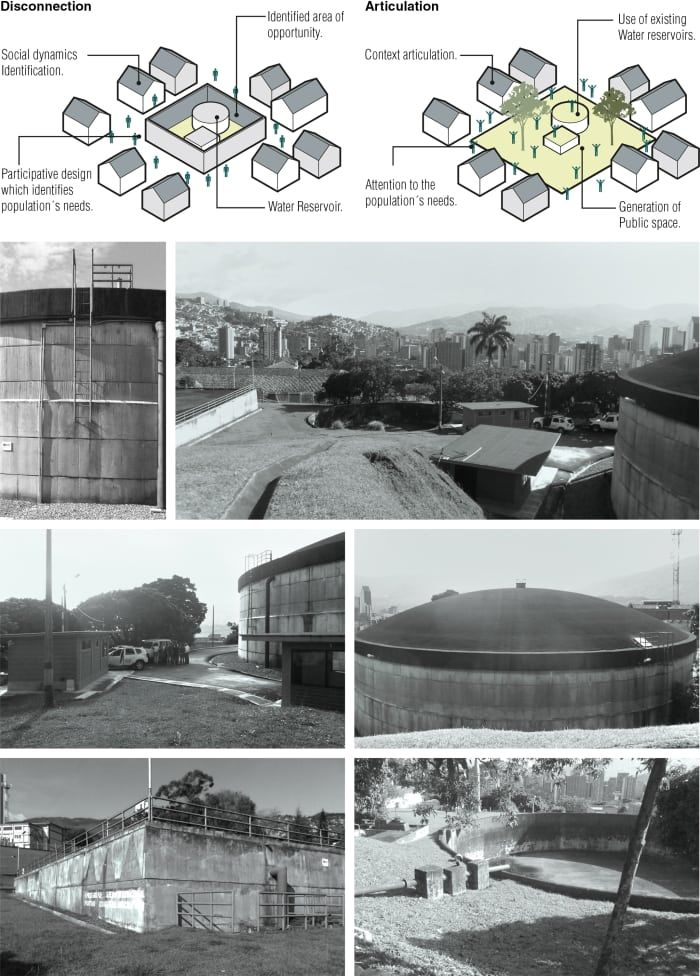 Sergio Gómez, Colectivo 720 S.A.S · Water reservoirs as Public Park and Equipment, UVA El Orfelinato