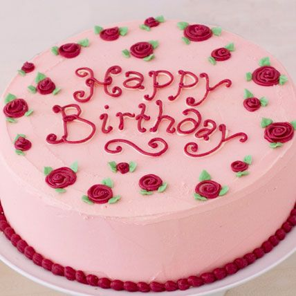 Happy Birthday Cake with Name Edit Happy Birthday Pink ...
