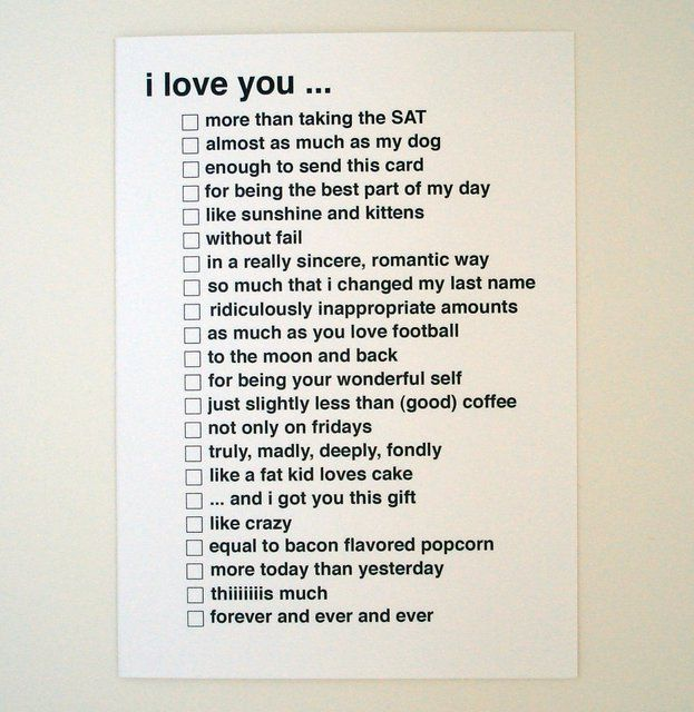 Fancy - I Love You Greeting Card