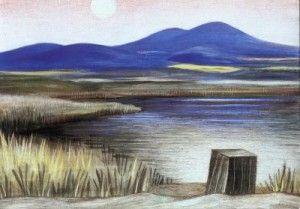 Vodňanský rybník (1942) tempera, plátno na dřevě