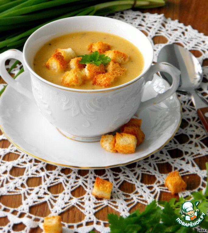 Суп-пюре из красной чечевицы и риса