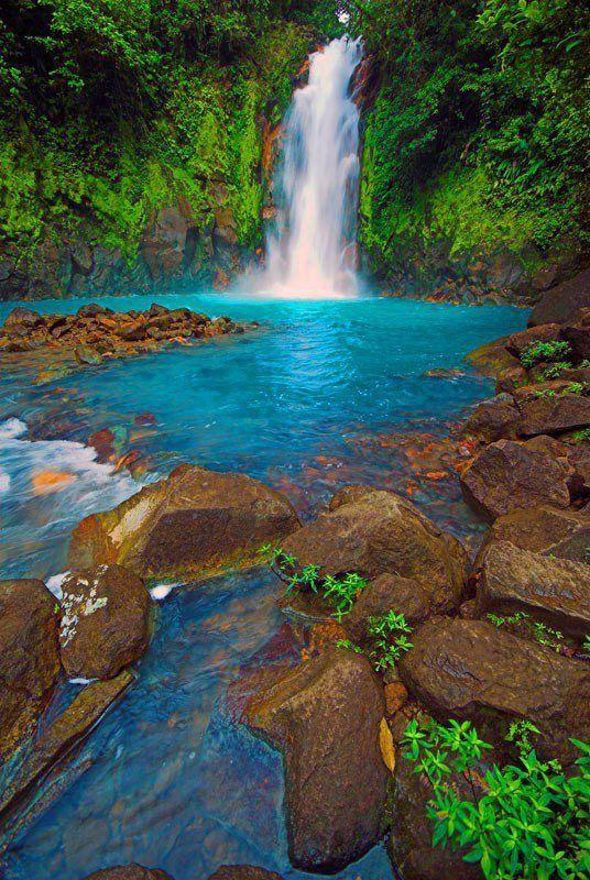 Rio Celeste, in the province of Guanacaste, Costa Rica