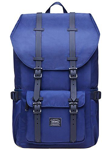"""Laptop Outdoor Backpack, Travel Hiking& Camping Rucksack Pack, Casual Large College School Daypack, Shoulder Book Bags Back Fits 15"""" Laptop & Tablets by Kaukko (2Nylon Blue). For product & price info go to:  https://all4hiking.com/products/laptop-outdoor-backpack-travel-hiking-camping-rucksack-pack-casual-large-college-school-daypack-shoulder-book-bags-back-fits-15-laptop-tablets-by-kaukko-2nylon-blue/"""