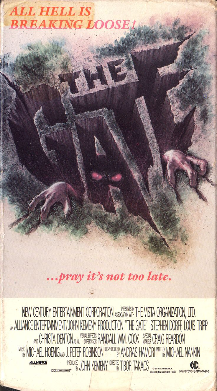 The Gate (1987) Horror movies, Spooky movies, Scary movies