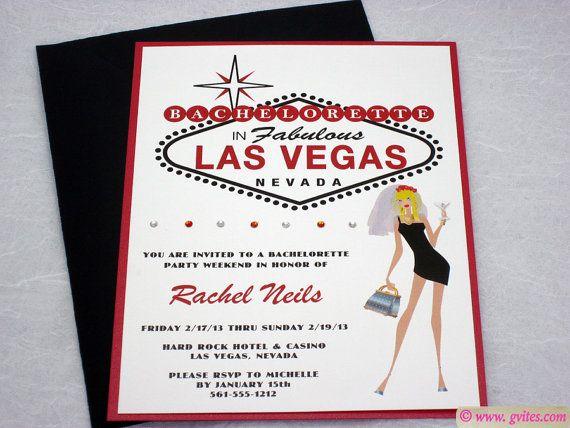 Las Vegas Bachelorette Invitation  Girls Night Out by Gvites, $6.30