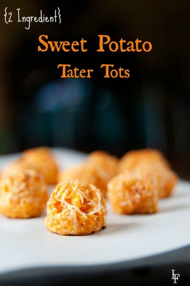 Two-Ingredient Sweet Potato Tater Tots | 33 Of The Most Delicious Things You Can Do To Sweet Potatoes