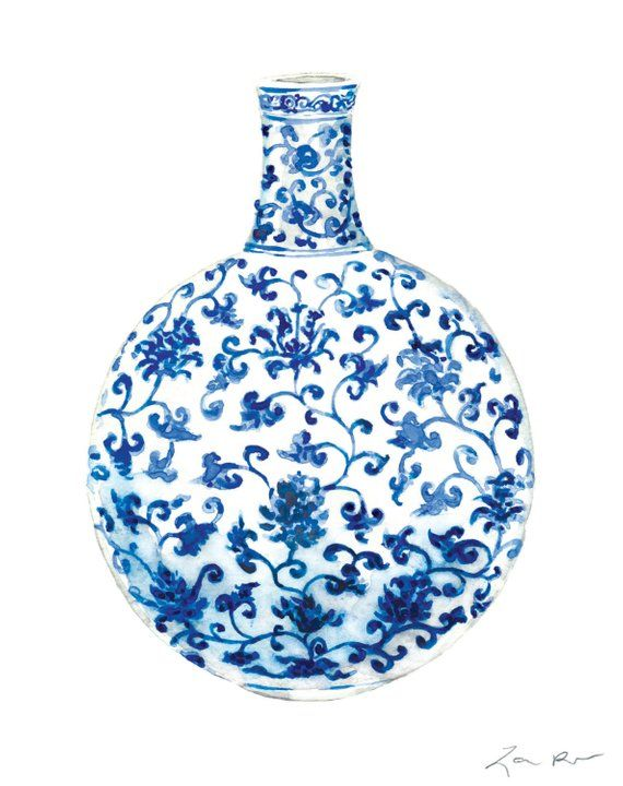 d23393b4651 Blue and White China Art 13 Ginger Jar Painting Ginger Jar Print Chinoiserie  Art Chinoiserie Chic As