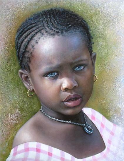 Niña de África 69 Dora Alis Mera V.- Artelista.com