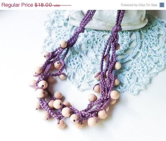 Crocheted Nursing Necklace by Snorkovna 18$  Eco teething toy for baby. Trendy jewerly for breastfeeding mommies. Modern natural boho accessory.