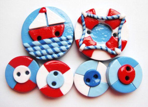 Button Ahoy handmade handmade polymer clay by digitsdesigns