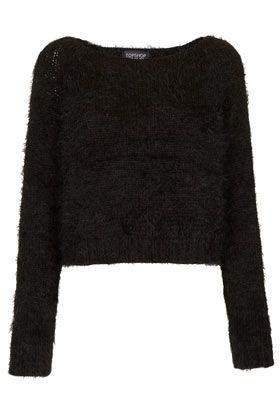 Knitted Fluffy Crop Jumper