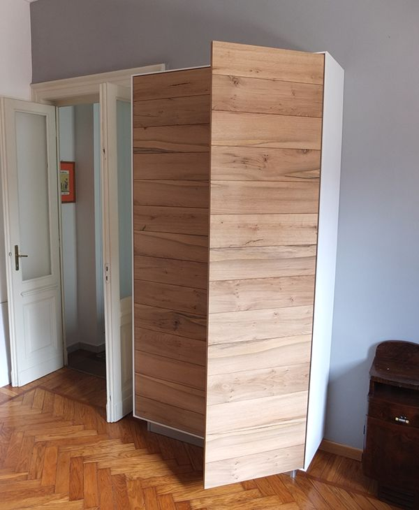 cabinet for living room lacquered + natural oak by Pier Giuseppe Giorcelli, via Behance