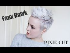 Pixie Cut FAUX HAWK Tutorial / Easy + DRUGSTORE Products - YouTube