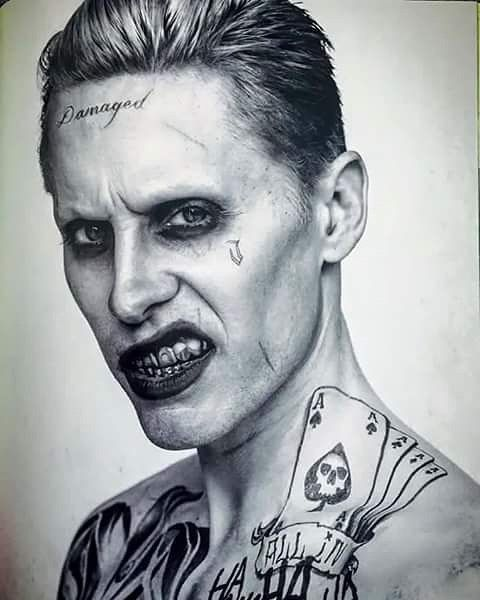 1027 best images about marvel dc on pinterest margot for Joker damaged tattoo
