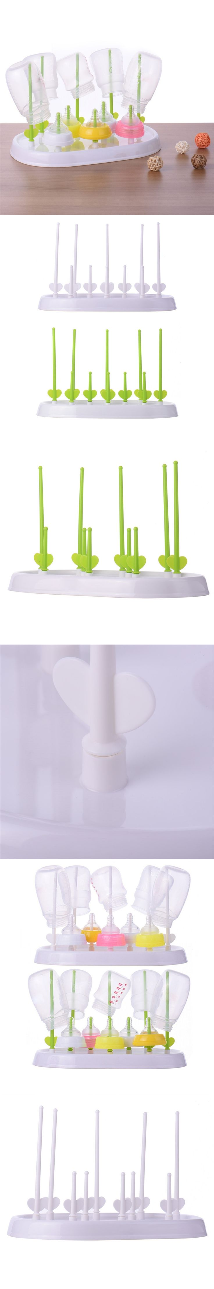 Convenient Baby Bottle Drying Rack Bottles Baby Bottle Cleaning Dryer Drainer Storage Rack Glass Countertop For Babies Bottles