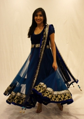 Royale Blue!    Royal blue net anarkali with printed silk paisley's border adorned with beautiful embroidery on the waist, border and dupatta. The dress is completed with a cotton-silk inner, velvet trimmings and beautiful dangles on the dupatta corners.    For more, Please visit us @, www.czari.in/women