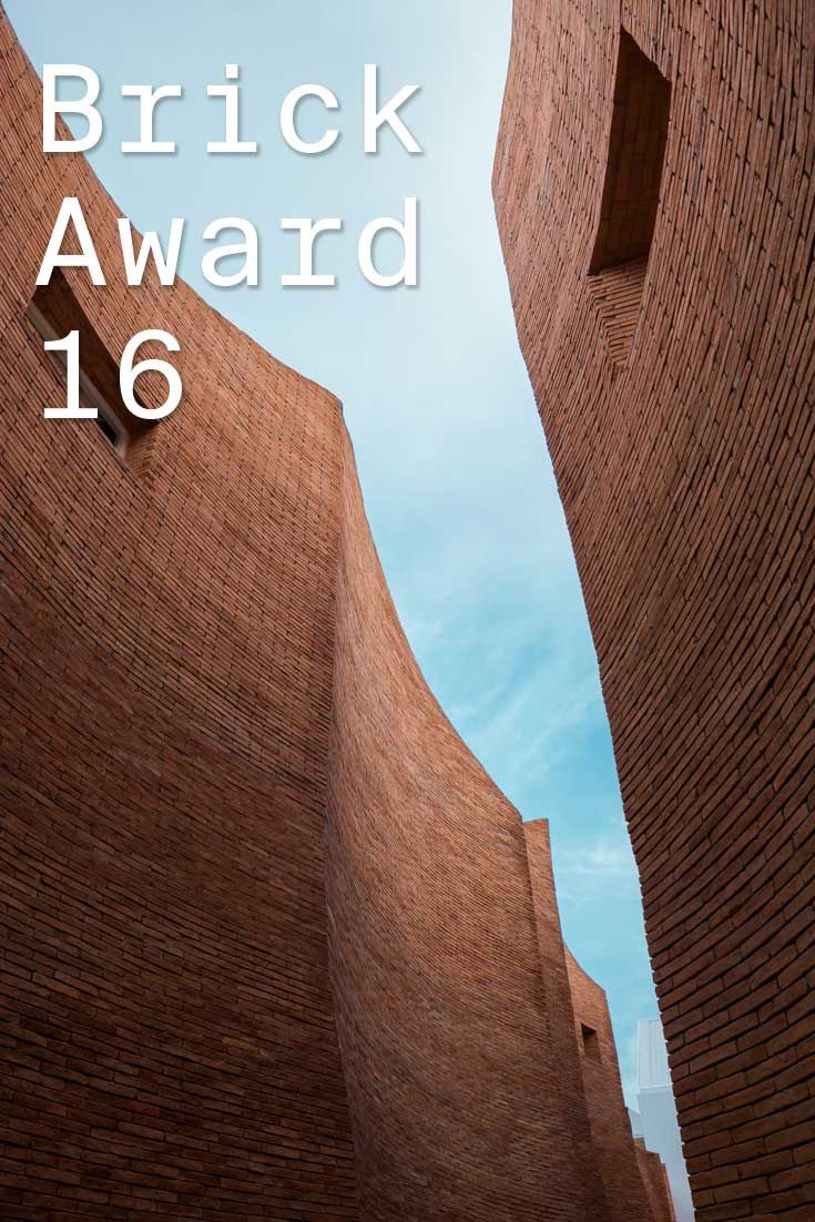 #WienerbergerBrickAward 2016 nominee 34: Sala Ayutthaya, Thailand by Onion, Thailand.  The tall red brick walls of this boutique hotel are framing the path and the sky at the same time with its multiple curves and create constantly changing shadows. Photographer: Wison Tungthunya