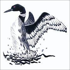 Image result for woodblock animals mallard duck