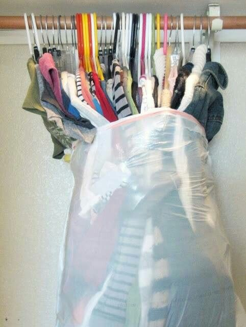 Moving tip. I tried this, makes moving hang up clothes so much easier!