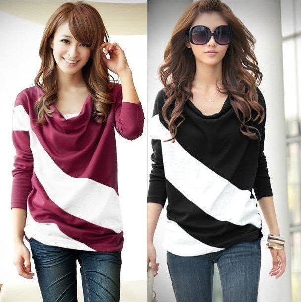 Cheap pullover knitwear, Buy Quality pullover shirt directly from China pullover ladies Suppliers:	 																																																							2013 black and white stripes printed grid leisure shirt long sl