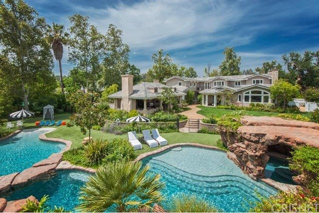 Actress and former reality-TV star Denise Richards has listed her residence in the celebrity enclave of Hidden Hills, California, for $7.3 million, Trulia reports. (Jennifer Lopez sold her estate in the area, but Miley Cyrus and Drake own homes there.) The 8,300-square-foot house, which sits on more than an acre of land, has six bedrooms with en suite baths, plus two powder rooms.