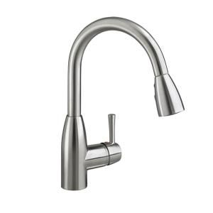 American Standard Fairbury Single Handle Pull Down Sprayer Kitchen Faucet In Stainless Steel