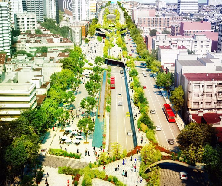Week 10. This is cultural corridor Chapultepec proposal which will be build by 2017 in Mexico. Once a calm historic road became a highway. To revitalize the historical richness, architects suggest pedestrian walkway of 0.8 miles. Elevated promenade will hold cultural, commercial, and recreational programs.