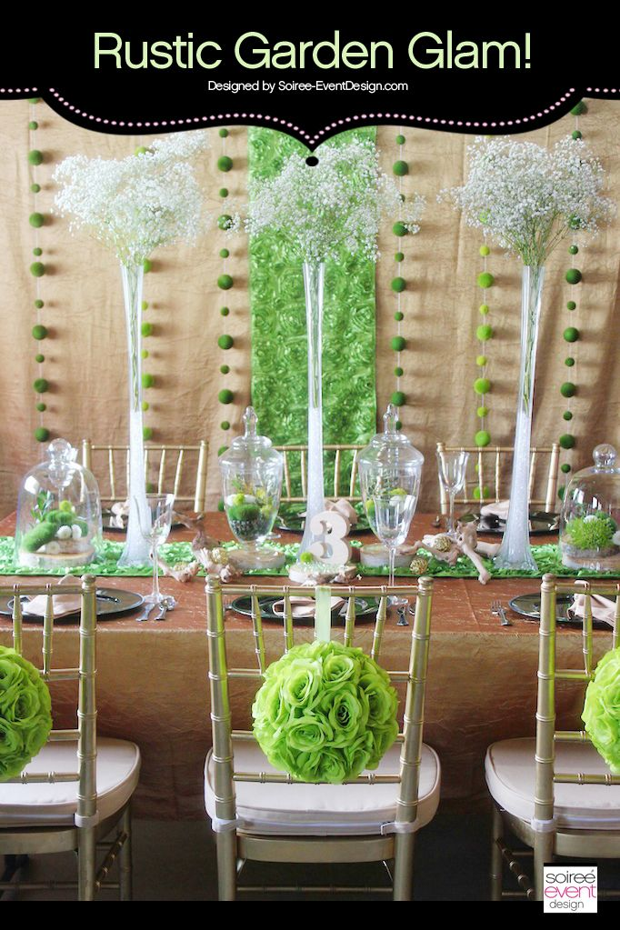 | Garden Glam Wedding featuring Terrariums | styled by SoireeEvent Design for Koyal Wholesale  http://soiree-eventdesign.com/blog
