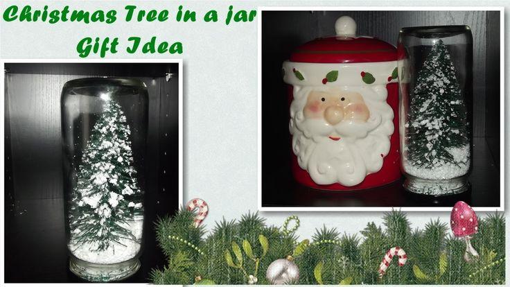 Christmas tree in a jar - gift idea - Χριστουγεννιάτικο δέντρο σε βαζάκι...