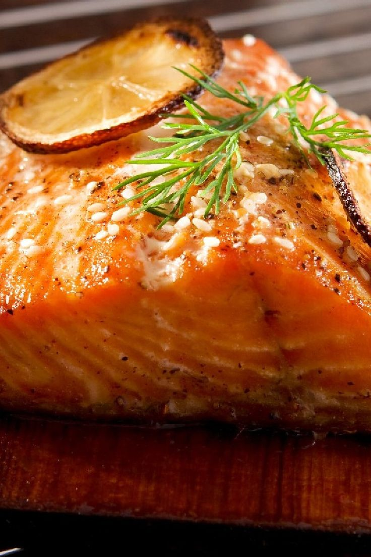 Grilled Cedar Planked Salmon with Soy, Sesame & Ginger Marinade # ...