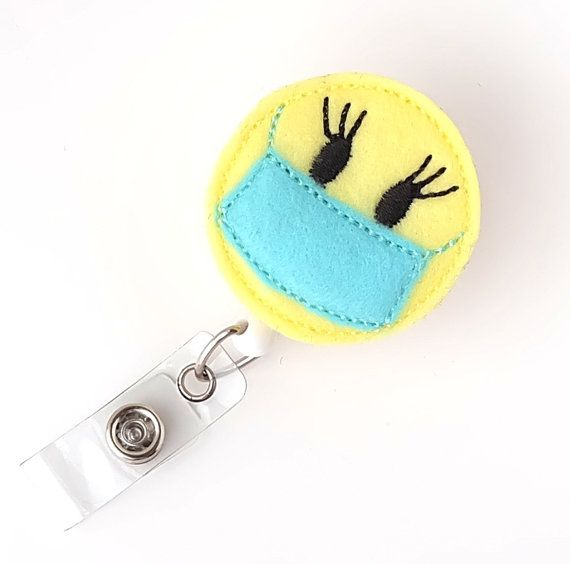 Scrub Nurse Gift  OR Tech Badge Clip Surgical Nurse Surgeon Cute Badge Reels  Felt Badge Holders by BadgeBlooms, $7.00